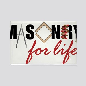 Masonry For Life Rectangle Magnet