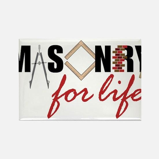 Masonry For Life Rectangle Magnet