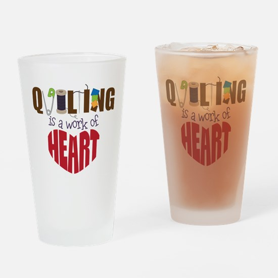 Quilting Drinking Glass