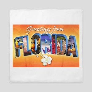 Florida State Greetings Queen Duvet