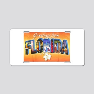 Florida State Greetings Aluminum License Plate