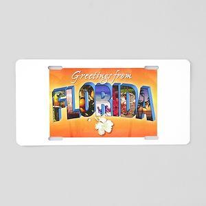 Florida State Greetings Aluminum License Plate