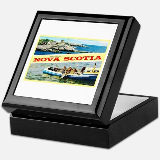 Nova Scotia Canada Greetings Keepsake Box