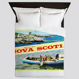 Nova Scotia Canada Greetings Queen Duvet