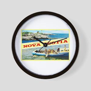 Nova Scotia Canada Greetings Wall Clock