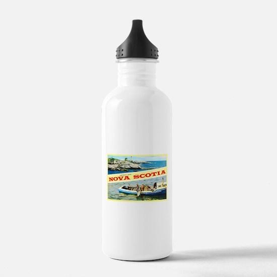 Nova Scotia Canada Greetings Water Bottle