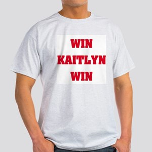 WIN KAITLYN WIN Ash Grey T-Shirt