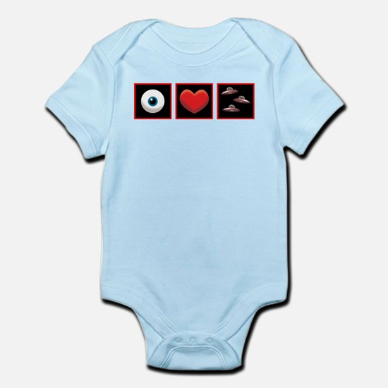 i love ufos.png Infant Bodysuit