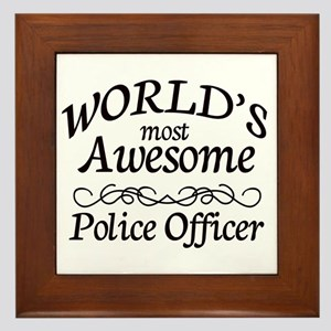 Police Officer Framed Tile