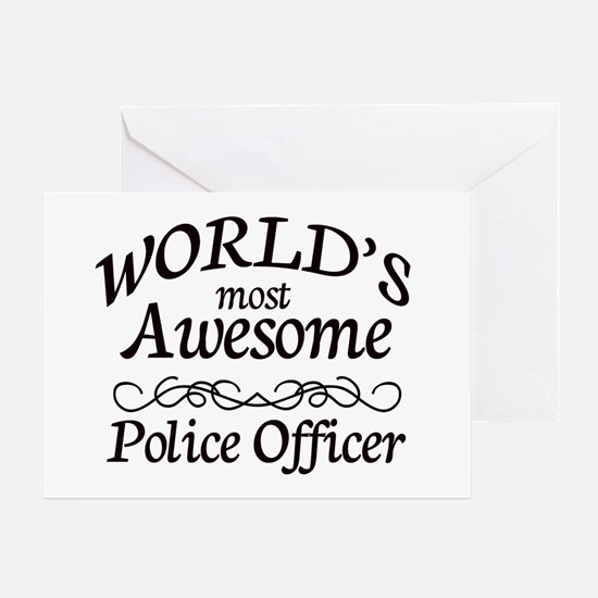 Police Officer Greeting Card