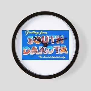 South Dakota State Greetings Wall Clock