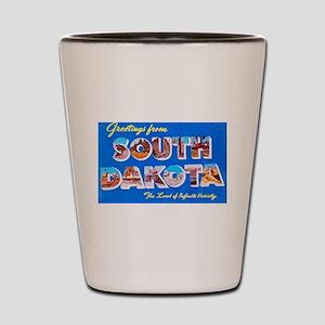 South Dakota State Greetings Shot Glass