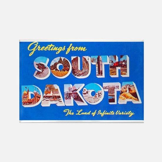 South Dakota State Greetings Rectangle Magnet
