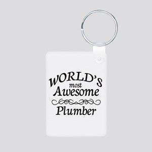 Plumber Aluminum Photo Keychain