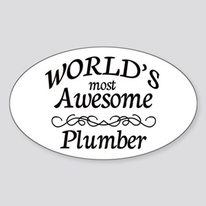 Plumber Sticker (Oval)