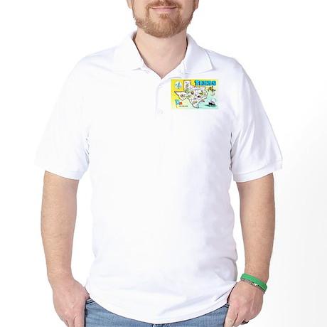 Texas Map Greetings Golf Shirt