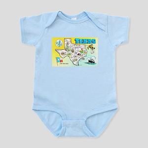 Texas Map Greetings Infant Bodysuit