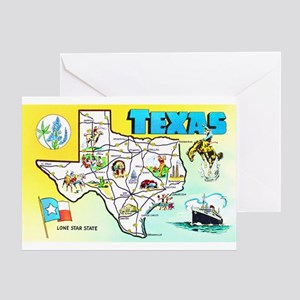 Texas map greeting cards cafepress texas map greetings greeting card m4hsunfo