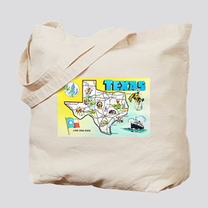 Texas Map Greetings Tote Bag