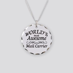 Mail Carrier Necklace Circle Charm