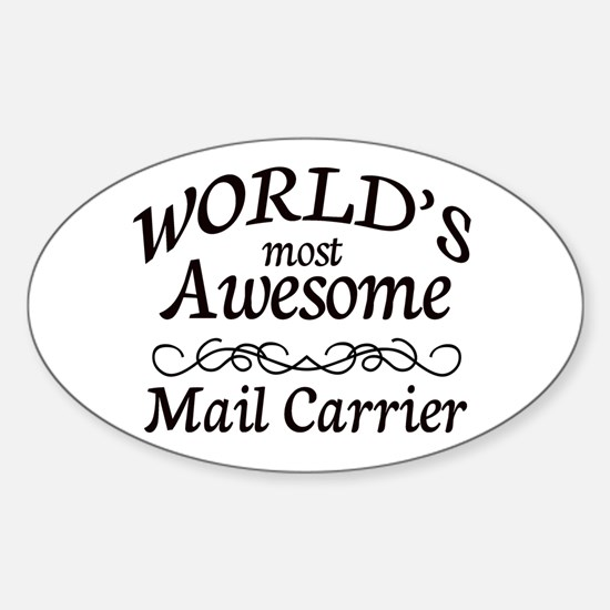 Mail Carrier Sticker (Oval)