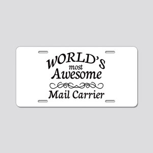 Mail Carrier Aluminum License Plate