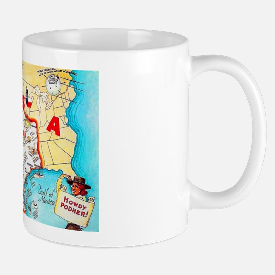 Texas Map Greetings Mug