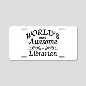 Librarian Aluminum License Plate