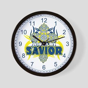 Jesus Is My Savior Wall Clock
