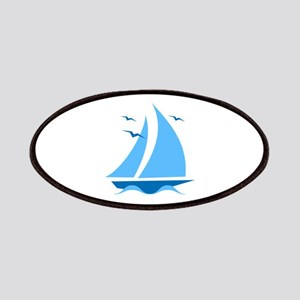 Blue Sailboat Patches
