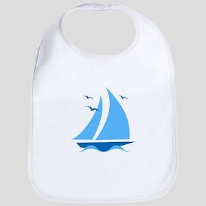 Blue Sailboat Bib