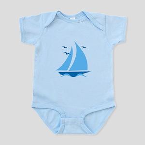 Blue Sailboat Infant Bodysuit