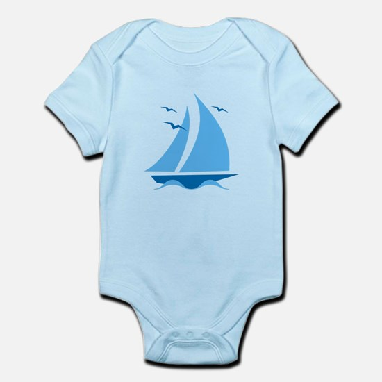 Blue Sailboat Infant Bodysuit