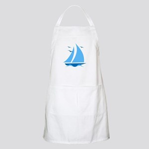 Blue Sailboat Apron