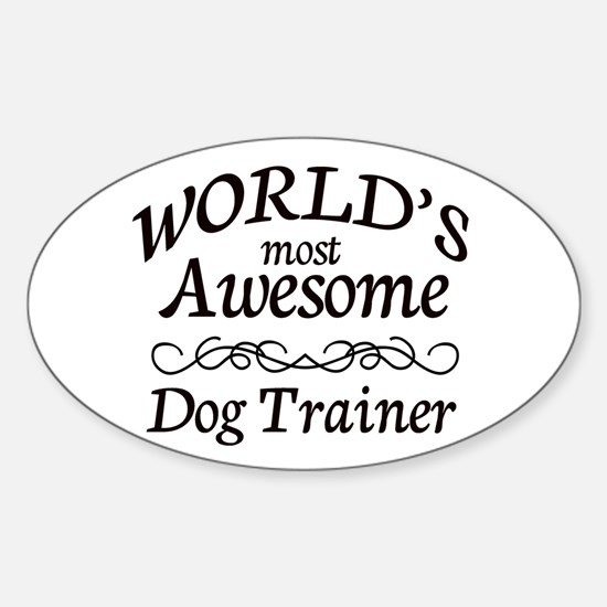 Dog Trainer Sticker (Oval)