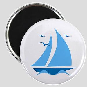 Blue Sailboat Magnet