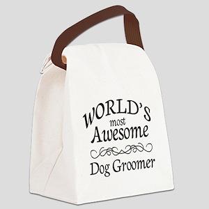 Dog Groomer Canvas Lunch Bag