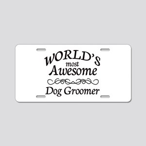 Dog Groomer Aluminum License Plate