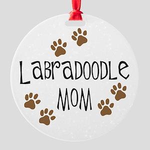 3-labradoodle mom Round Ornament