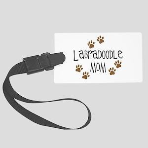 3-labradoodle mom Large Luggage Tag