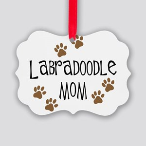 3-labradoodle mom Picture Ornament