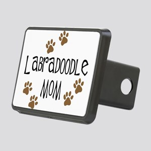 3-labradoodle mom Rectangular Hitch Cover