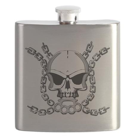 Brass knuckle skull 6 Flask