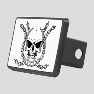 Brass knuckle skull 6 Rectangular Hitch Cover