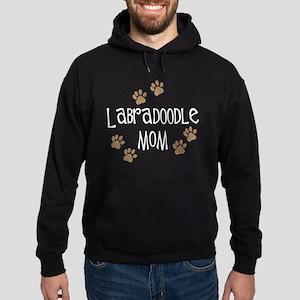 3-labradoodle mom wh Hoodie (dark)