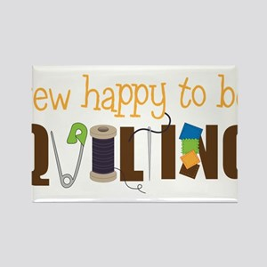 Sew Happy Rectangle Magnet