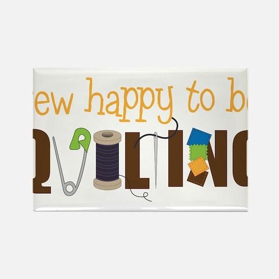 Sew Happy Rectangle Magnet