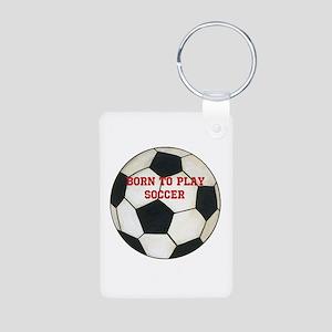 Soccer Aluminum Photo Keychain
