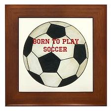 Soccer Framed Tile
