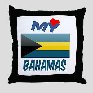 My Love Bahamas Throw Pillow
